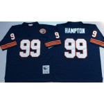 NFL Chicago Bears Dan Hampton #99 Blue with Big Number Throwback Jersey