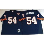 NFL Chicago Bears Brian Urlacher #54 Blue with Big Number Throwback Jersey