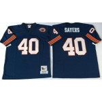 NFL Chicago Bears Gale Sayers #40 Blue with Big Number Throwback Jersey
