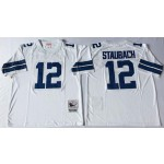 NFL Dallas Cowboys Roger Staubach #12 White Throwback Jersey