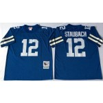 NFL Dallas Cowboys Roger Staubach #12 Blue Throwback Jersey