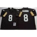 NFL New Orleans Saints Archie Manning #8 Black Throwback Jersey