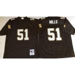 NFL New Orleans Saints Sam Mills #51 Black Throwback Jersey
