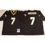 NFL New Orleans Saints Morten Andersen #7 Black Throwback Jersey