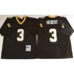 NFL New Orleans Saints Bobby Hebert #3 Black Throwback Jersey