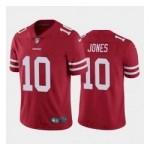Men's San Francisco 49ers #10 Mac Jones Red 2021 NFL Draft Vapor Limited Jersey