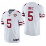 Nike 49ers #5 Trey Lance White 75th Anniversary Vapor Untouchable Limited Jersey