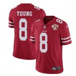 Nike 49ers #8 Steve Young Red 75th Anniversary Vapor Untouchable Limited Jersey
