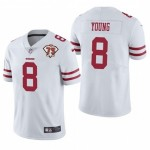 Nike 49ers #8 Steve Young White 75th Anniversary Vapor Untouchable Limited Jersey