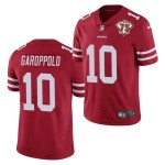 Nike 49ers #10 Jimmy Garoppolo Red 75th Anniversary Vapor Untouchable Limited Jersey
