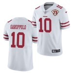 Nike 49ers #10 Jimmy Garoppolo White 75th Anniversary Vapor Untouchable Limited Jersey