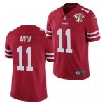 Nike 49ers #11 Brandon Aiyuk Red 75th Anniversary Vapor Untouchable Limited Jersey