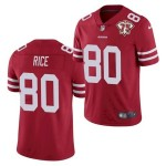 Nike 49ers #80 Jerry Rice Red 75th Anniversary Vapor Untouchable Limited Jersey