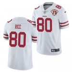 Nike 49ers #80 Jerry Rice White 75th Anniversary Vapor Untouchable Limited Jersey