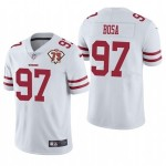 Nike 49ers #97 Nick Bosa White 75th Anniversary Vapor Untouchable Limited Jersey
