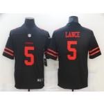 San Francisco 49ers #5 Trey Lance Black Vapor Untouchable Limited Jersey