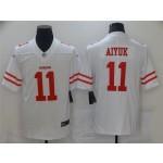 San Francisco 49ers #11 Brandon Aiyuk White Vapor Untouchable Limited Jersey