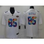 San Francisco 49ers #85 George Kittle White Rainbow Vapor Limited Jersey