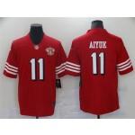 San Francisco 49ers #11 Brandon Aiyuk Red Alternate 75th Anniversary Vapor Limited Jersey