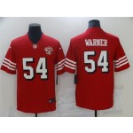 San Francisco 49ers #54 Fred Warner Red Alternate 75th Anniversary Vapor Limited Jersey