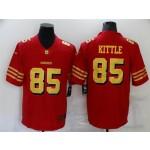 San Francisco 49ers #85 George Kittle Throwback Red God Vapor Limited Jersey