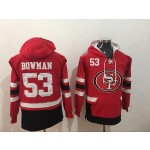 NFL San Francisco 49ers #53 NaVorro Bowman Red All Stitched Hooded Sweatshirt