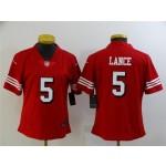 Women's San Francisco 49ers #5 Trey Lance Red Alternate Vapor Limited Jersey