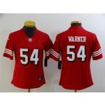 Women's San Francisco 49ers #54 Fred Warner Red Alternate Vapor Limited Jersey