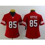 Women's San Francisco 49ers #85 George Kittle Red Alternate Vapor Limited Jersey