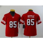 Youth San Francisco 49ers #85 George Kittle Red Alternate Vapor Limited Jersey