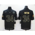 Nike Bears #34 Walter Payton Black 2020 Salute To Service Limited Jersey