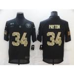Nike Bears #34 Walter Payton Black Camo 2020 Salute To Service Limited Jersey
