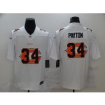 Nike Bears #34 Walter Payton White Shadow Logo Limited Jersey