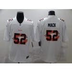 Nike Bears #52 Khalil Mack White Shadow Logo Limited Jersey