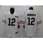 NFL Chicago Bears #12 Allen Robinson II White 100th Vapor Untouchable Limited Jersey