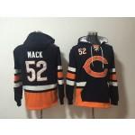 NFL Chicago Bears #52 Khalil Mack Navy Blue All Stitched Hooded Sweatshirt