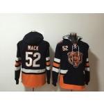 NFL Chicago Bears #52 Khalil Mack Navy Blue Third All Stitched Hooded Sweatshirt