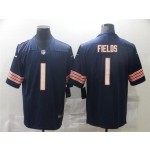 Youth Chicago Bears #1 Justin Fields Blue Vapor Limited Jersey