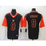 NFL Bengals #9 Joe Burrow black Reverse Version Jersey