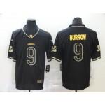 NFL Bengals #9 Joe Burrow Black Gold Vapor Untouchable Limited Jersey