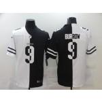 NFL Cincinnati Bengals #9 Joe Burrow Men's Black V White Peace Split Nike Vapor Untouchable Limited Jersey