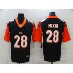 Nike Bengals #28 Joe Mixon Black Team Color Men's Stitched NFL Vapor Untouchable Elite Jersey