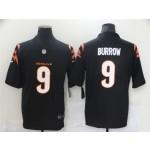 Nike Bengals #9 Joe Burrow Black Vapor Limited New Jersey