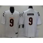 Nike Bengals #9 Joe Burrow White Vapor Limited New Jersey