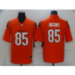 Nike Bengals #85 Tee Higgins Orange Vapor Limited New Jersey