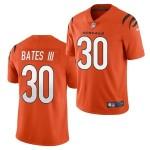 Men's Cincinnati Bengals #30 Jessie Bates III 2021 New Orange Vapor Untouchable Limited Stitched Jersey