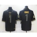 Cincinnati Bengals #1 Ja'Marr Chase Black Gold Vapor Limited Jersey