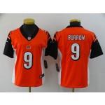 Women Nike Bengals #9 Joe Burrow Orange Women 2020 NFL Draft First Round Pick Vapor Untouchable Limited Jersey