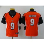 Youth Nike Bengals #9 Joe Burrow Orange 2020 NFL Draft First Round Pick Vapor Untouchable Limited Jersey