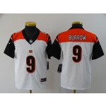Youth Nike Bengals #9 Joe Burrow White 2020 NFL Draft First Round Pick Vapor Untouchable Limited Jersey